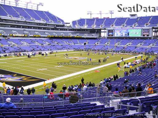 View from Section 107 at M&T Bank Stadium, Home of the Baltimore Ravens