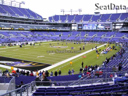 View from Section 108 at M&T Bank Stadium, Home of the Baltimore Ravens