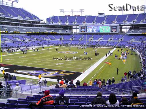 View from Section 109 at M&T Bank Stadium, Home of the Baltimore Ravens