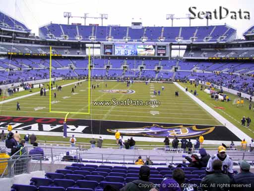 View from Section 112 at M&T Bank Stadium, Home of the Baltimore Ravens