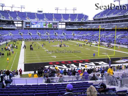 View from Section 115 at M&T Bank Stadium, Home of the Baltimore Ravens
