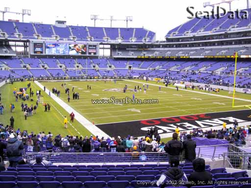 View from Section 117 at M&T Bank Stadium, Home of the Baltimore Ravens
