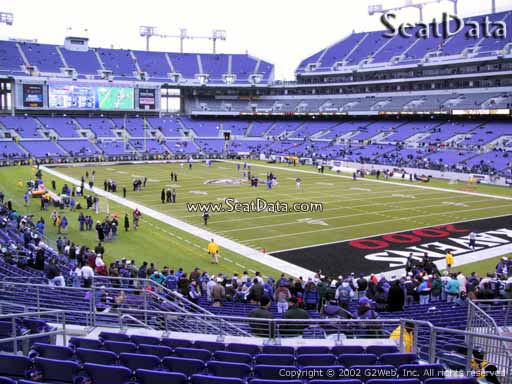 View from Section 118 at M&T Bank Stadium, Home of the Baltimore Ravens