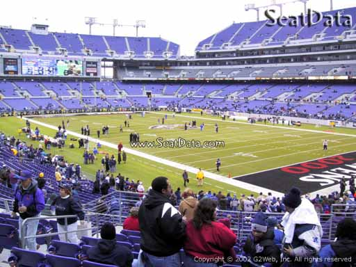 View from Section 119 at M&T Bank Stadium, Home of the Baltimore Ravens