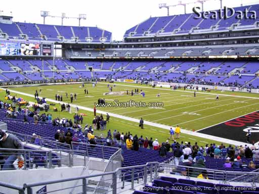 View from Section 120 at M&T Bank Stadium, Home of the Baltimore Ravens