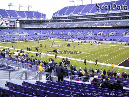 View from Section 121 at M&T Bank Stadium, Home of the Baltimore Ravens