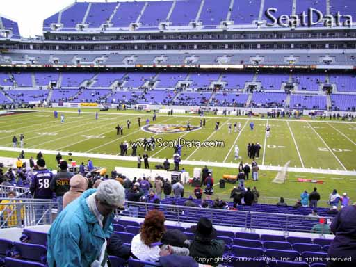 View from Section 125 at M&T Bank Stadium, Home of the Baltimore Ravens