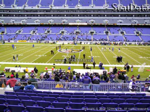 View from Section 126 at M&T Bank Stadium, Home of the Baltimore Ravens