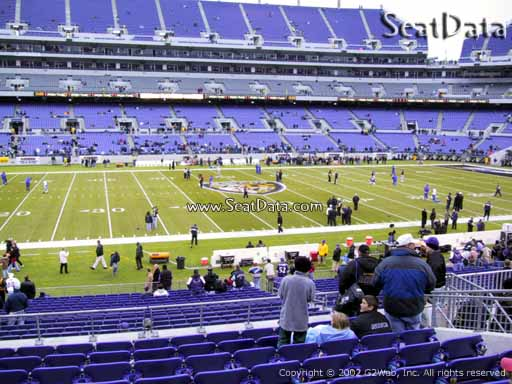 View from Section 128 at M&T Bank Stadium, Home of the Baltimore Ravens