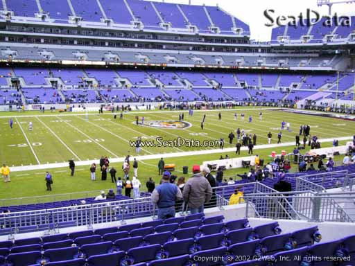 View from Section 129 at M&T Bank Stadium, Home of the Baltimore Ravens