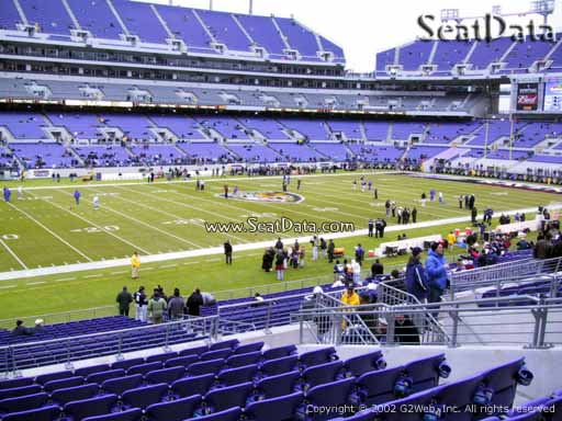 View from Section 130 at M&T Bank Stadium, Home of the Baltimore Ravens