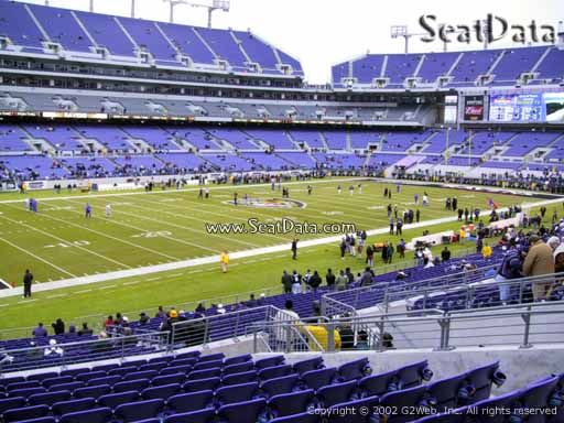 View from Section 132 at M&T Bank Stadium, Home of the Baltimore Ravens