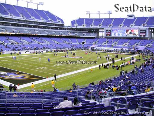 View from Section 134 at M&T Bank Stadium, Home of the Baltimore Ravens