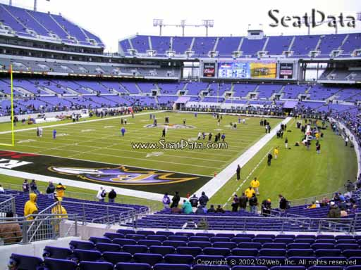 View from Section 136 at M&T Bank Stadium, Home of the Baltimore Ravens