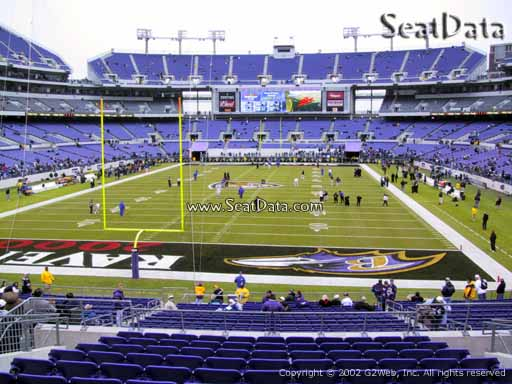 View from Section 139 at M&T Bank Stadium, Home of the Baltimore Ravens