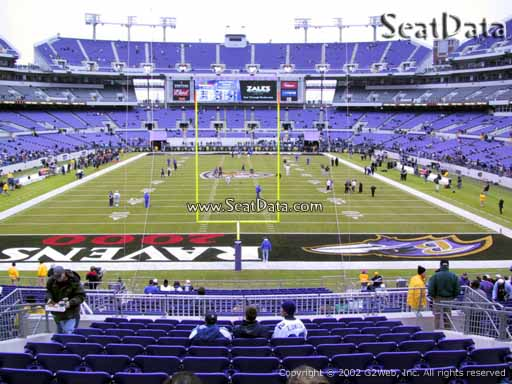 View from Section 140 at M&T Bank Stadium, Home of the Baltimore Ravens