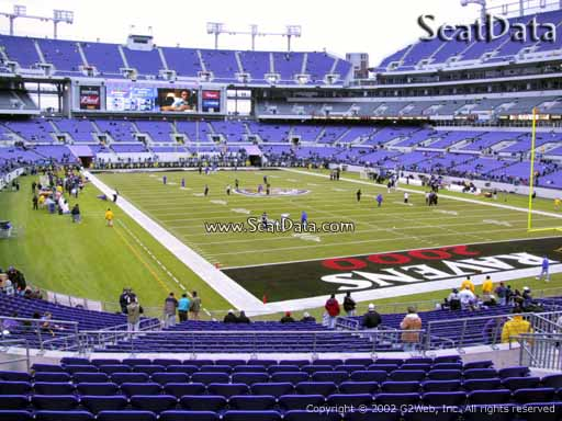 View from Section 144 at M&T Bank Stadium, Home of the Baltimore Ravens