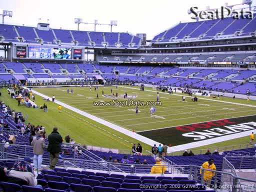 View from Section 145 at M&T Bank Stadium, Home of the Baltimore Ravens