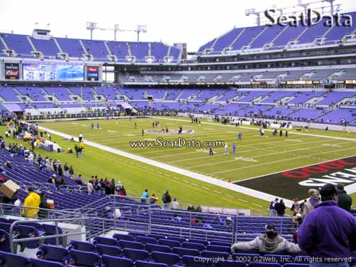 View from Section 146 at M&T Bank Stadium, Home of the Baltimore Ravens