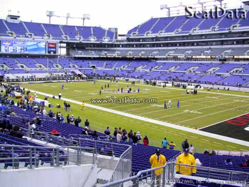 View from Section 147 at M&T Bank Stadium, Home of the Baltimore Ravens