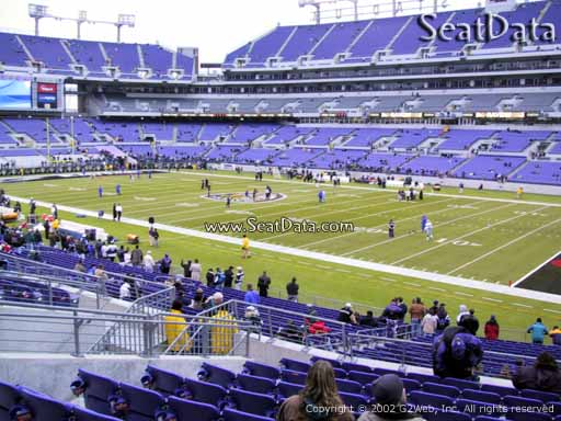 View from Section 148 at M&T Bank Stadium, Home of the Baltimore Ravens