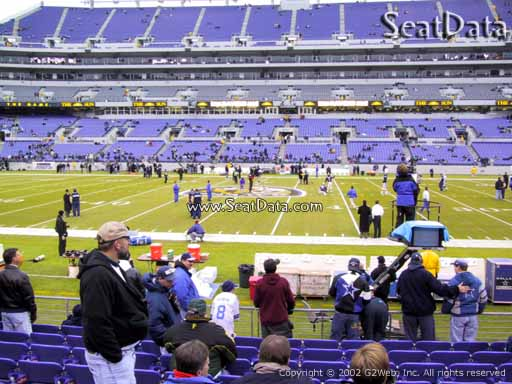 View from Section 153 at M&T Bank Stadium, Home of the Baltimore Ravens