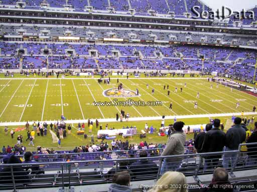 View from Section 201 at M&T Bank Stadium, Home of the Baltimore Ravens