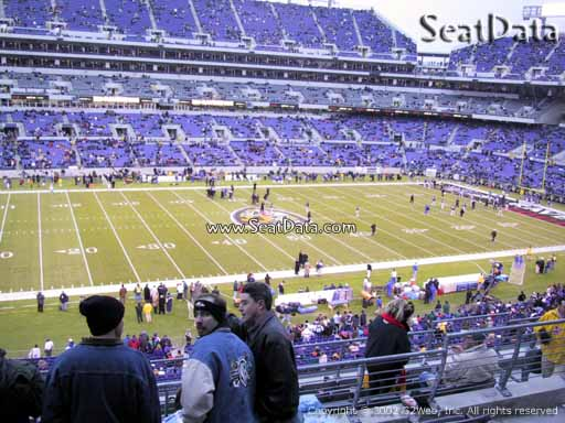View from Section 202 at M&T Bank Stadium, Home of the Baltimore Ravens