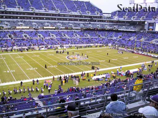 View from Section 203 at M&T Bank Stadium, Home of the Baltimore Ravens