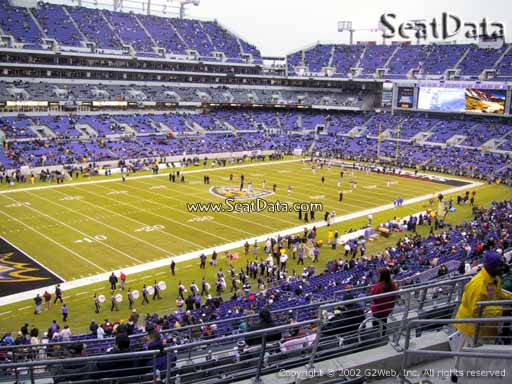 View from Section 205 at M&T Bank Stadium, Home of the Baltimore Ravens