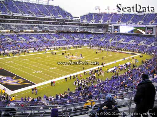 View from Section 206 at M&T Bank Stadium, Home of the Baltimore Ravens