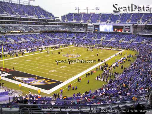 View from Section 208 at M&T Bank Stadium, Home of the Baltimore Ravens
