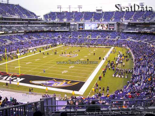 View from Section 210 at M&T Bank Stadium, Home of the Baltimore Ravens