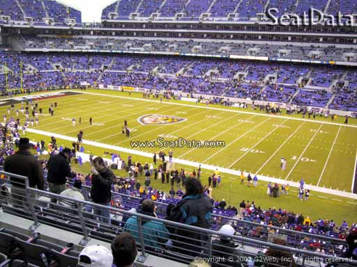 View from Section 223 at M&T Bank Stadium, Home of the Baltimore Ravens