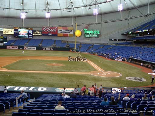 Seat view from section 111 at Tropicana Field, home of the Tampa Bay Rays