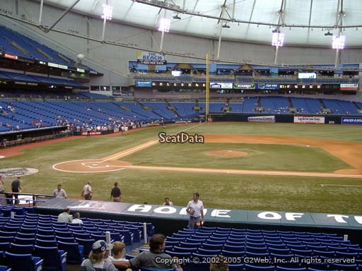 Seat view from section 114 at Tropicana Field, home of the Tampa Bay Rays