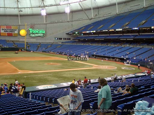 Seat view from section 119 at Tropicana Field, home of the Tampa Bay Rays