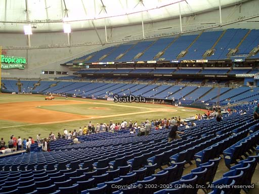 Seat view from section 127 at Tropicana Field, home of the Tampa Bay Rays