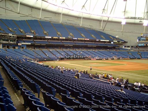 Seat view from section 130 at Tropicana Field, home of the Tampa Bay Rays