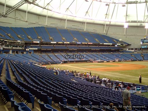 Seat view from section 132 at Tropicana Field, home of the Tampa Bay Rays