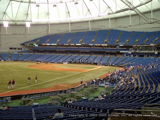 Seat view from section 135 at Tropicana Field, home of the Tampa Bay Rays
