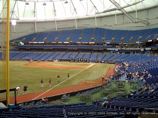 Seat view from section 137 at Tropicana Field, home of the Tampa Bay Rays