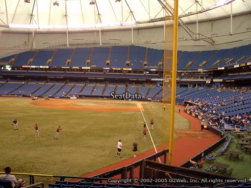 Seat view from section 139 at Tropicana Field, home of the Tampa Bay Rays