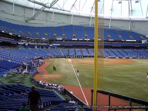 Seat view from section 140 at Tropicana Field, home of the Tampa Bay Rays