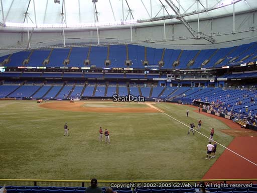 Seat view from section 141 at Tropicana Field, home of the Tampa Bay Rays