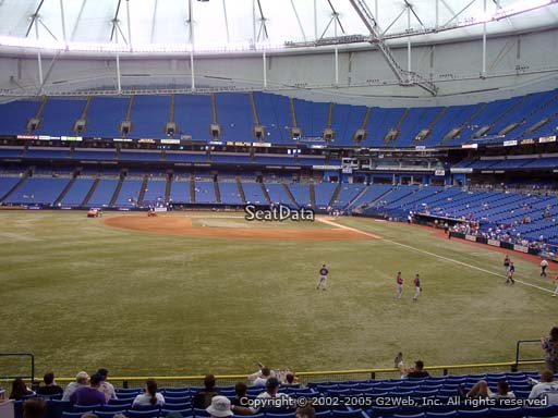 Seat view from section 143 at Tropicana Field, home of the Tampa Bay Rays