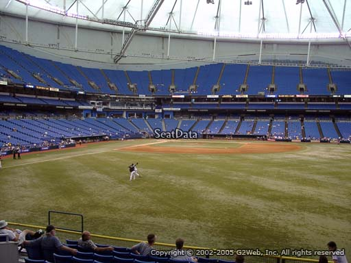 Seat view from section 146 at Tropicana Field, home of the Tampa Bay Rays