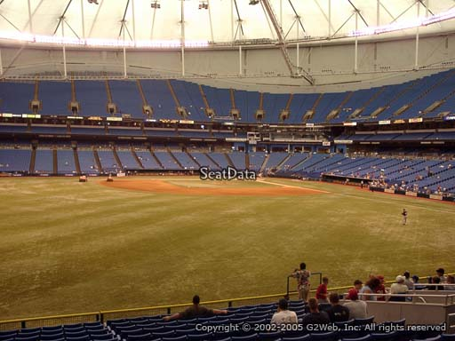 Seat view from section 147 at Tropicana Field, home of the Tampa Bay Rays