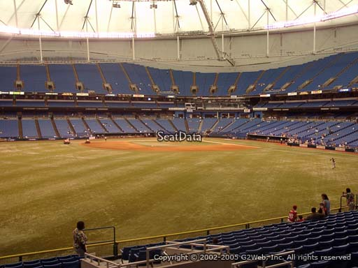 Seat view from section 149 at Tropicana Field, home of the Tampa Bay Rays