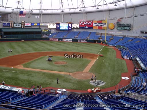 Seat view from section 205 at Tropicana Field, home of the Tampa Bay Rays